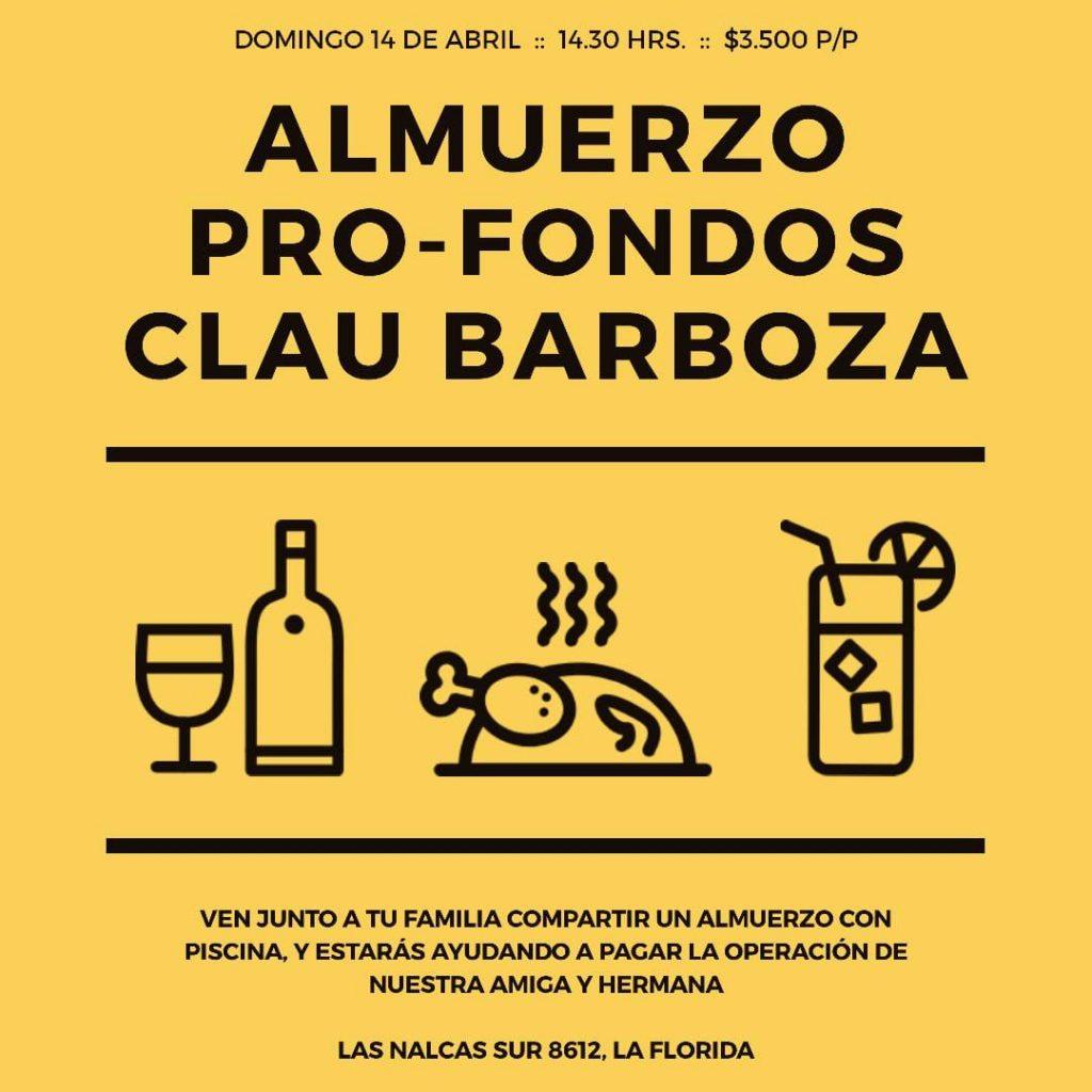 Almuerzo pro-fondos Clau Barboza